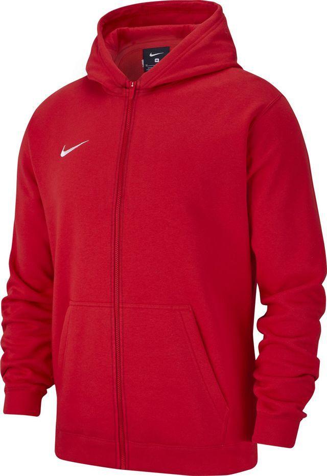 Nike Bluza dziecięca Team Club 19 Full-Zip Fleece Hoodie czerwona r. 137 (AJ1458 657) 1