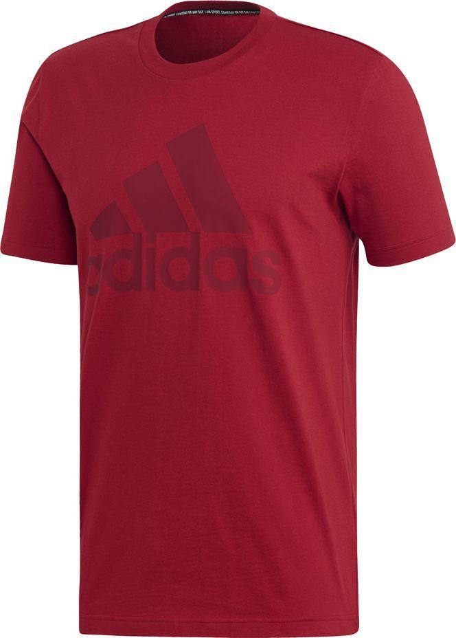 Adidas Koszulka męska MH Bos Tee czerwona r. L (EB5244) ID produktu: 6248389
