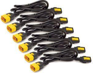 Kabel zasilający APC 6szt kabli C13 - C14, 1,2m zabezp. (AP8704S-WW) 1