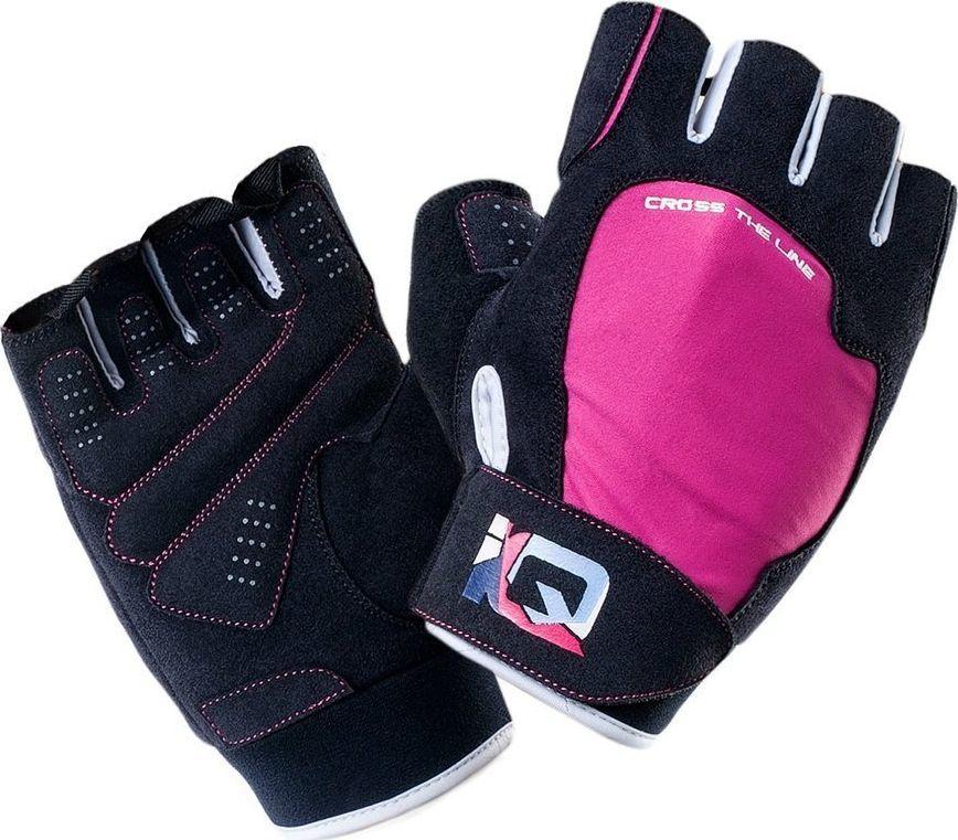 IQ Rękawiczki na siłownię Mill fitness treningowe różowo-czarne 1