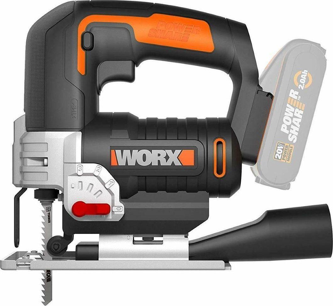 Worx Wyrzynarki wyrzynarka (WX543.9) + akumulator 20V 2,4Ah + ładowarka 2a (WA3601) 1