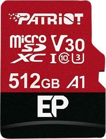 Karta Patriot EP Pro MicroSDXC 512 GB Class 10 UHS-I/U3 A1 V30 (PEF512GEP31MCX) 1
