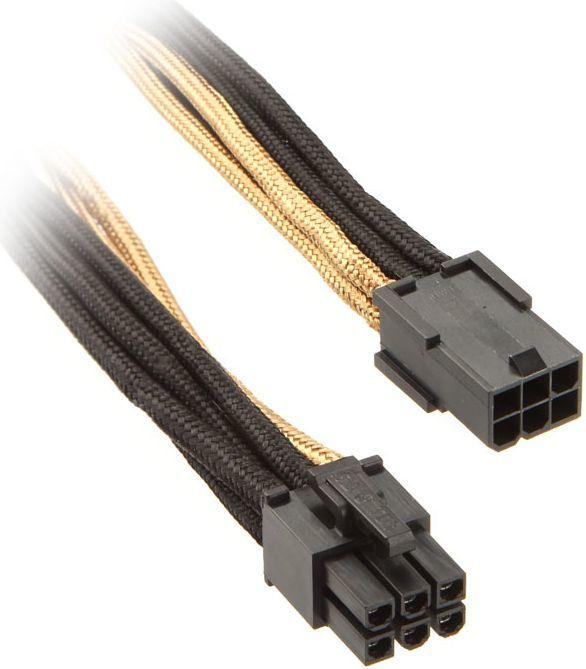 SilverStone Przedłużacz 6-Pin PCIe - 250mm - czarno złoty (SST-PP07-IDE6BG) 1