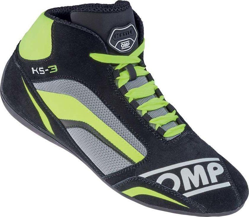 OMP Racing Buty kartingowe OMP KS-3 MY19 szaro- żółte 33 1