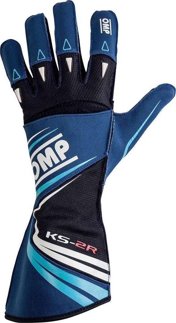 OMP Racing Rękawice OMP KS-2R niebieskie 4 1