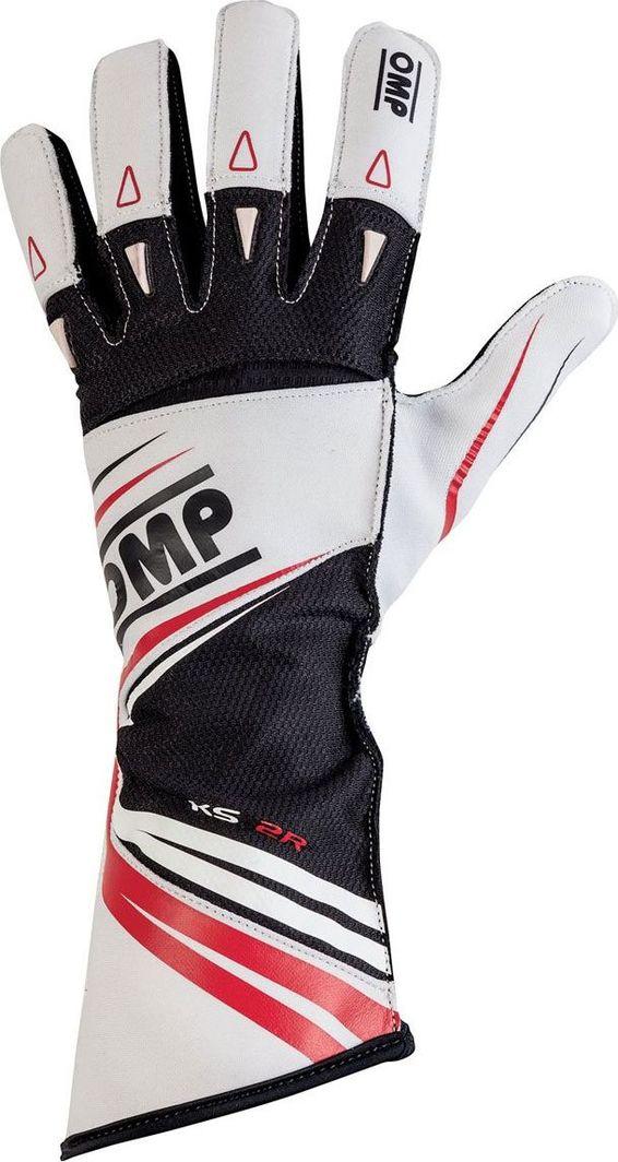 OMP Racing Rękawice OMP KS-2R białe 4 1