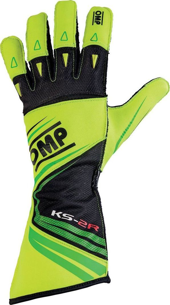 OMP Racing Rękawice OMP KS-2R żółte 5 1