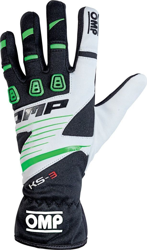 OMP Racing Rękawice OMP KS-3 MY18 czarno-zielone M 1