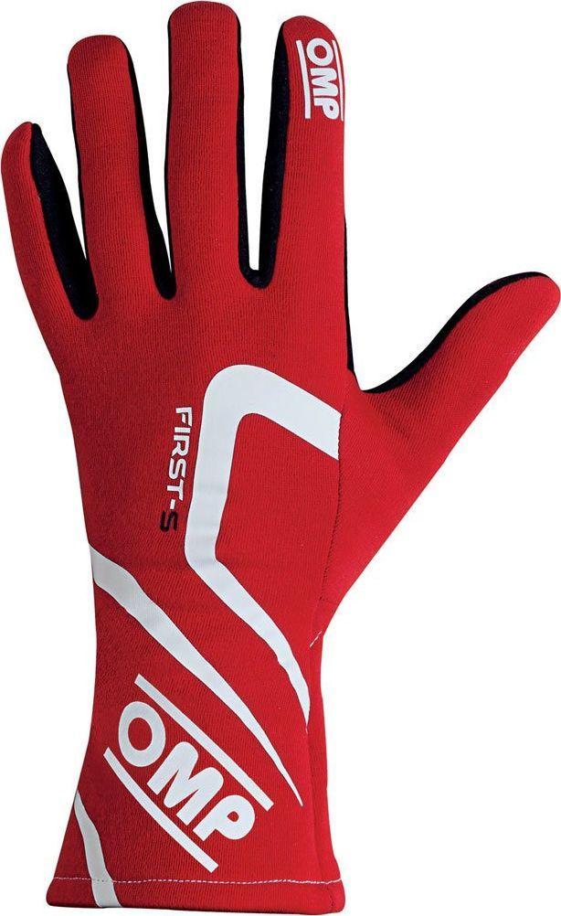 OMP Racing Rękawice rajdowe OMP FIRST-S MY18 czerwone (homologacja FIA) XS 1