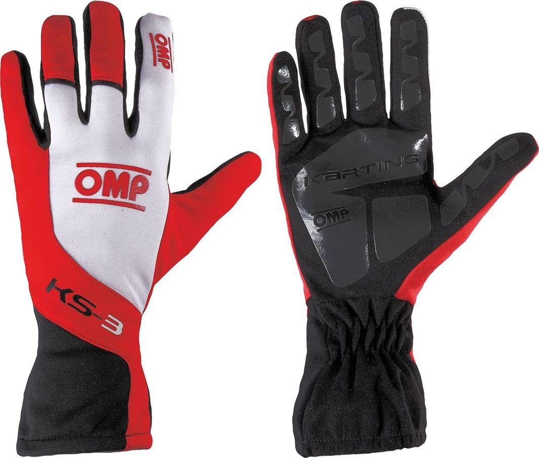 OMP Racing Rękawice OMP KS-3 czerwono - białe 4 1