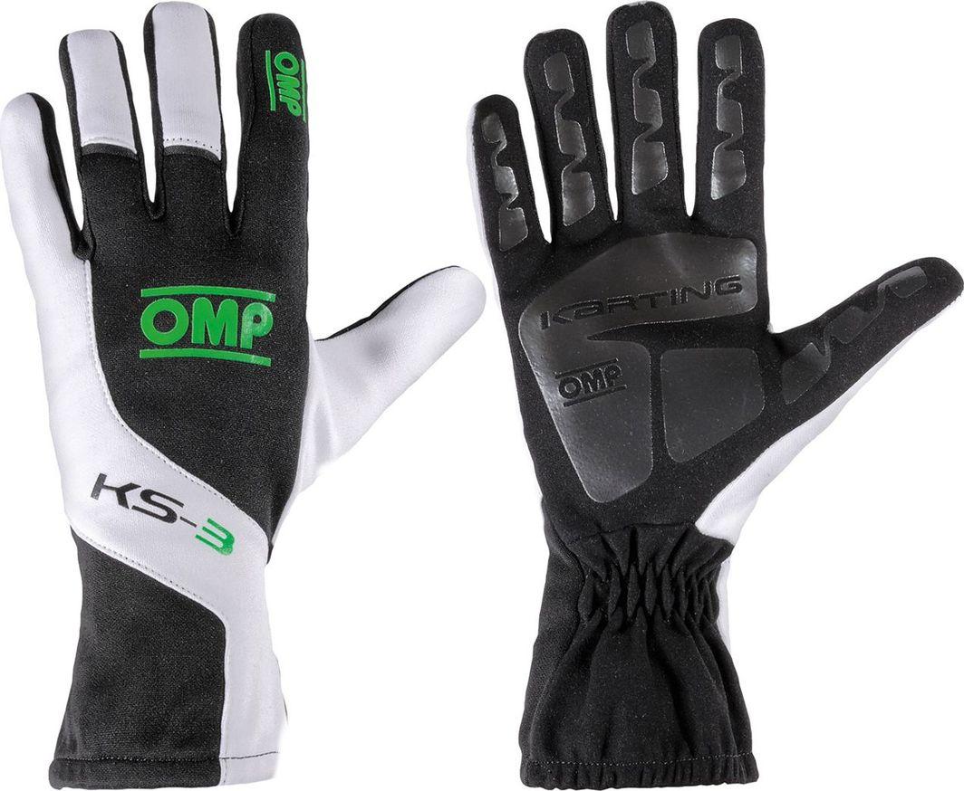 OMP Racing Rękawice OMP KS-3 czarno - biało - zielone 4 1