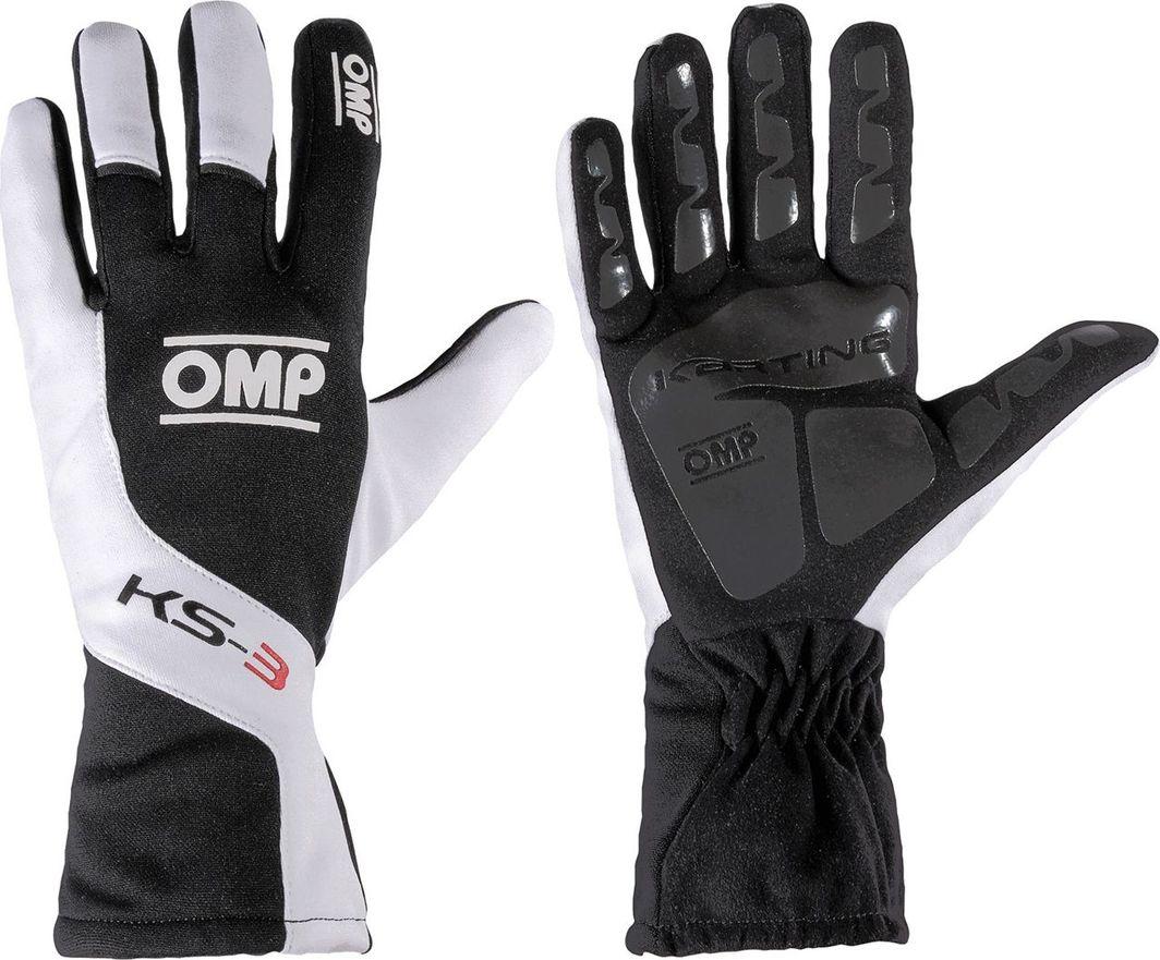 OMP Racing Rękawice OMP KS-3 czarno - białe 4 1