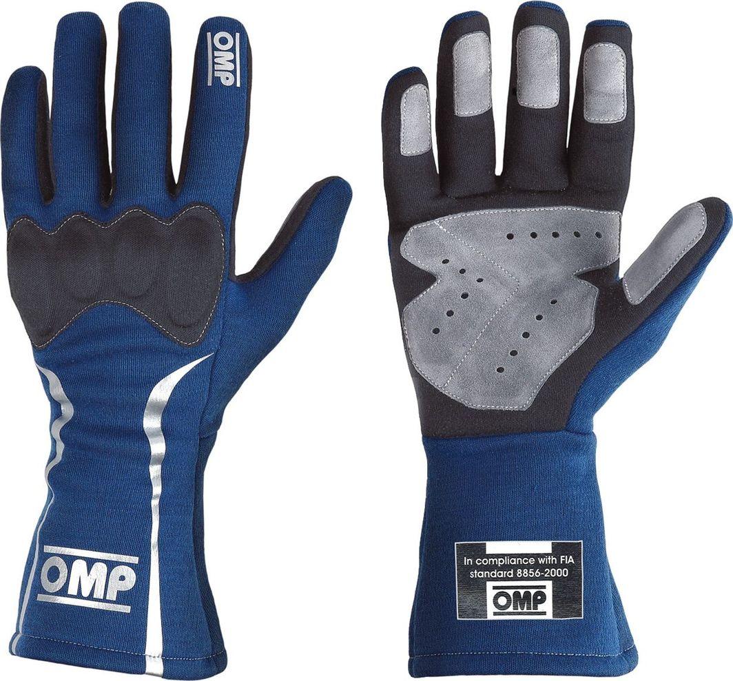 OMP Racing Rękawice rajdowe OMP MISTRAL niebieskie (homologacja FIA) S 1