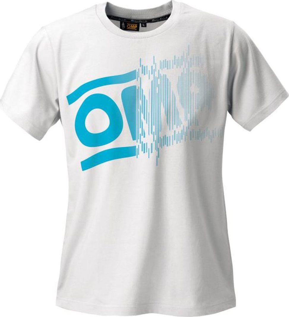 OMP Racing Koszulka męska Striped biała r. M 1