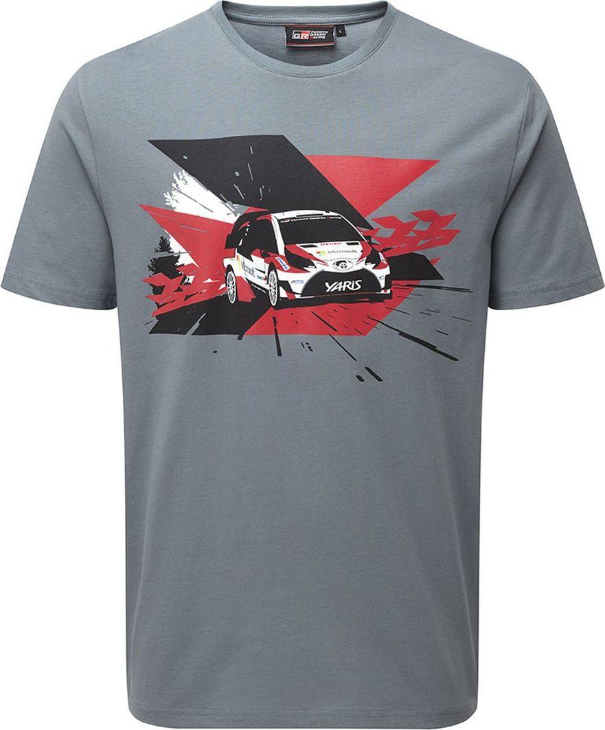 Toyota Gazoo Racing Koszulka męska Car WRT szara r. S 1