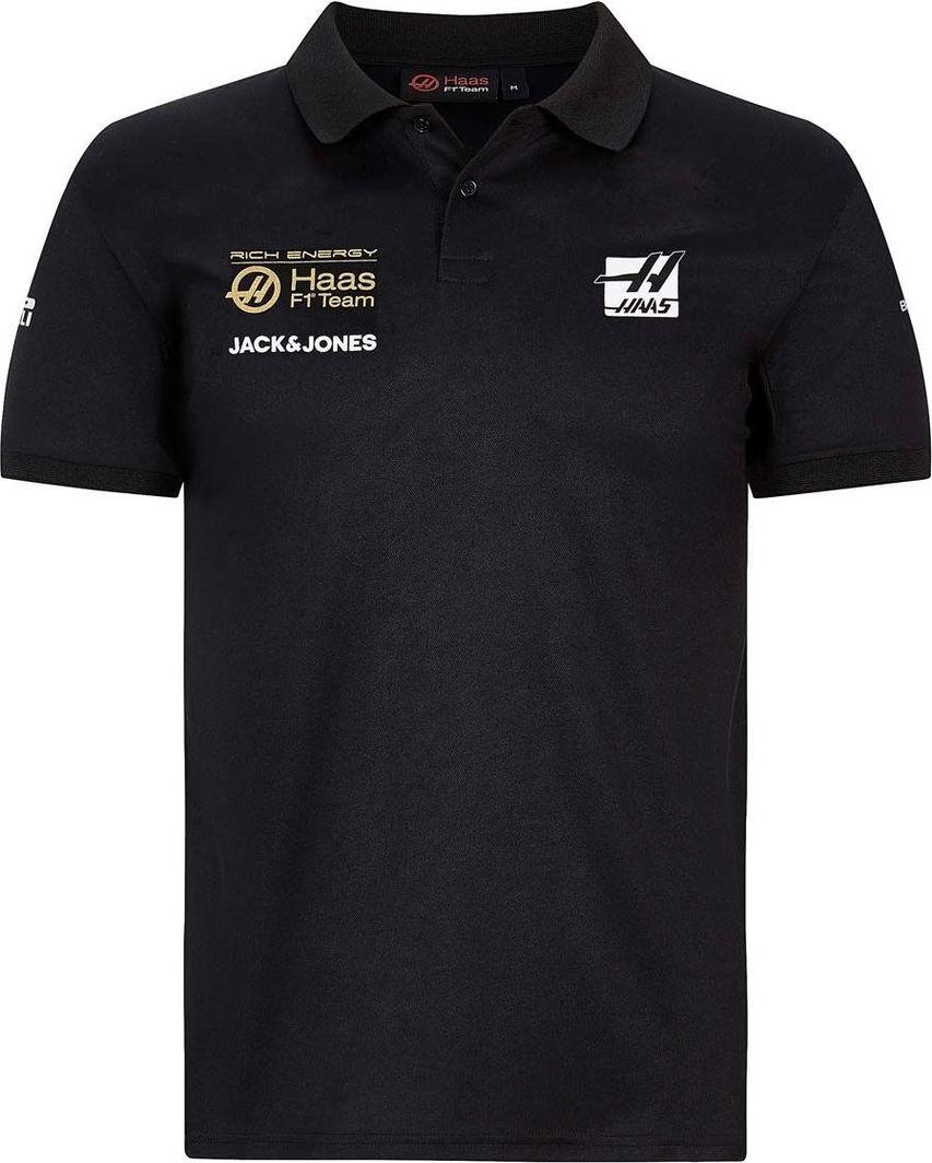 Haas F1 Team Koszulka męska Logo polo Rich Energy czarna r. XL 1