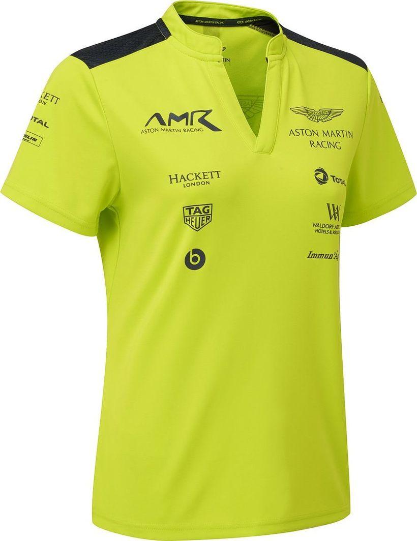 Aston Martin Racing Koszulka damska Team limonkowa r. S 1