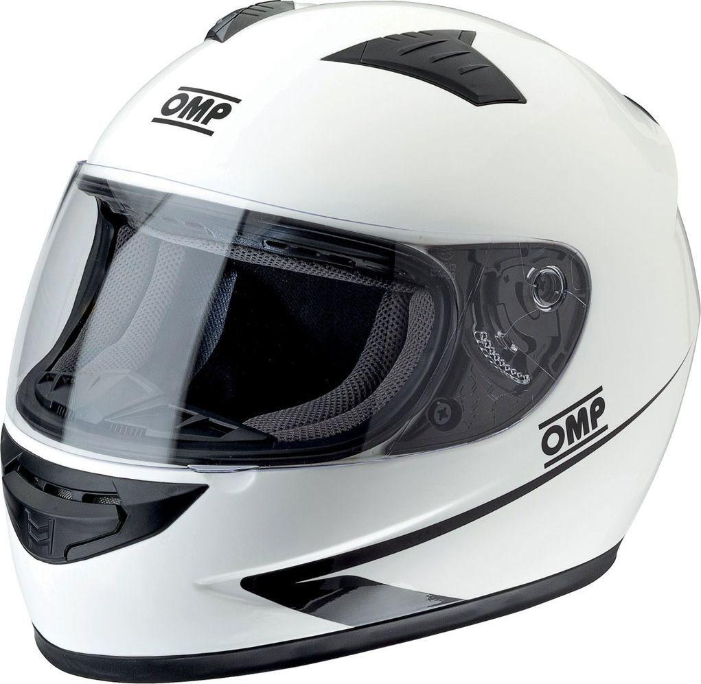 OMP Racing Kask zamknięty OMP Circuit biały XS 1
