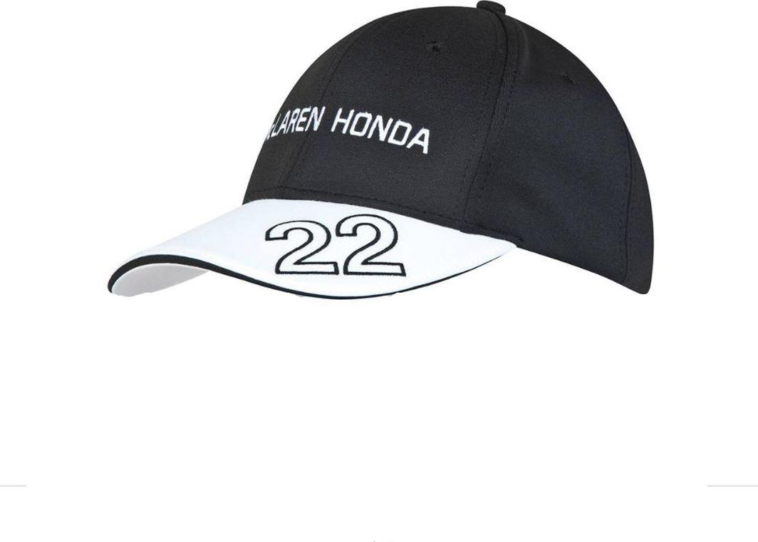 McLaren F1 Team Czapka dziecięca Jenson Button Honda F1 Team czarno-biała r. uniwersalny 1