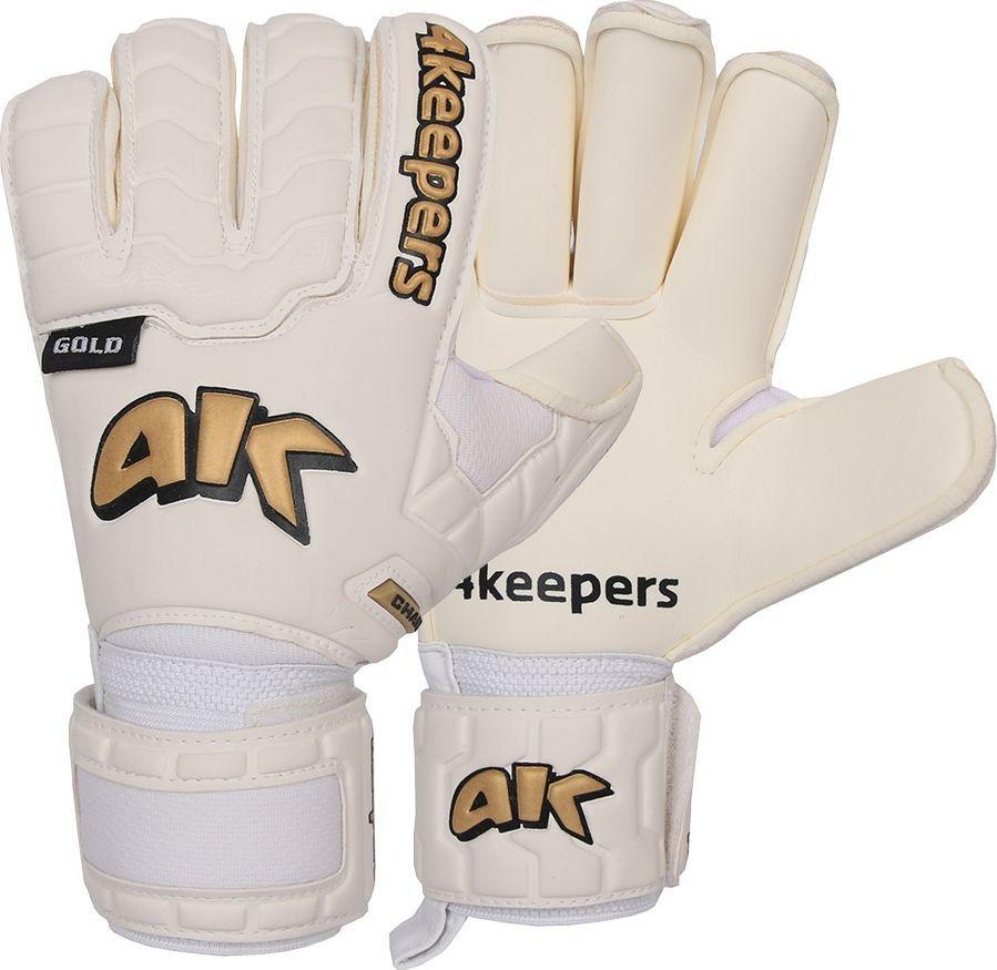 4keepers Rękawice 4keepers Champ Black Gold IV RF + płyn czyszczący S605346 biały 8,5 1