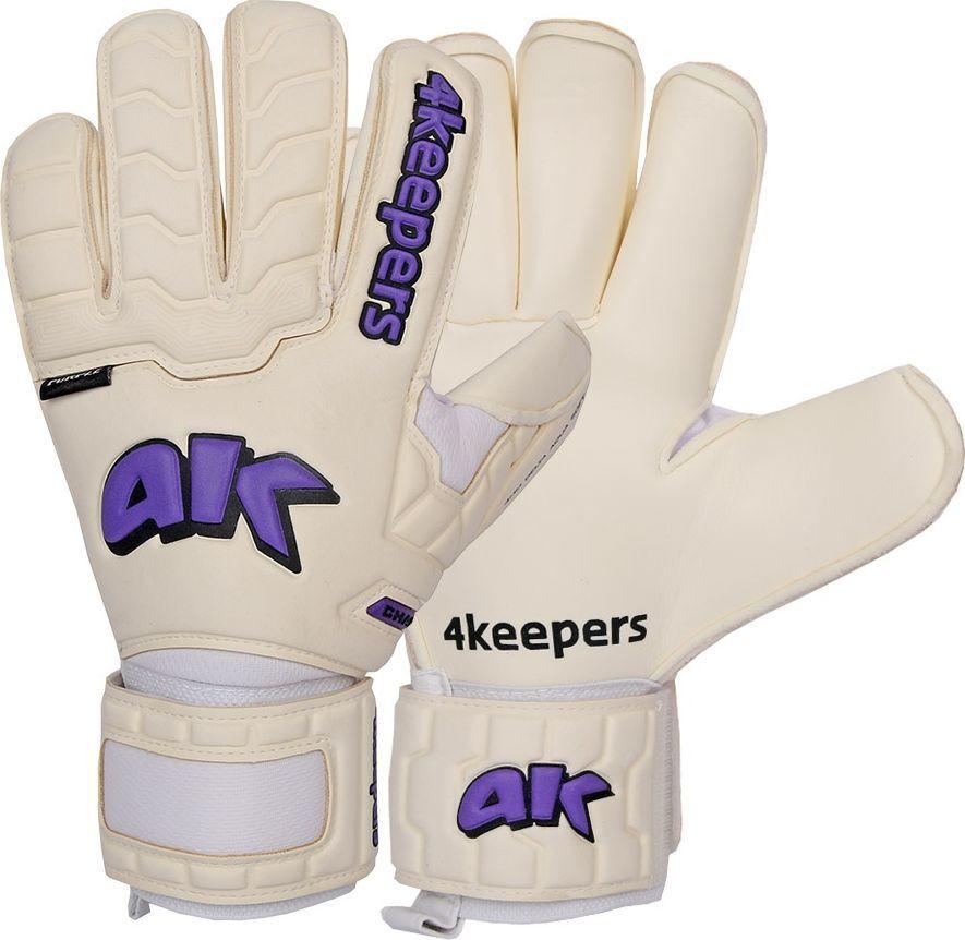 4keepers Rękawice 4keepers Champ Purple IV RF + płyn czyszczący S605245 biały 9,5 1