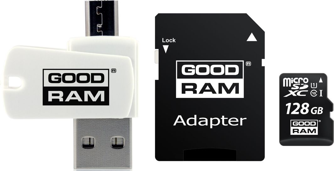 Karta GoodRam All in One MicroSDXC 128 GB Class 10 UHS-I/U1  (M1A4-1280R12) 1