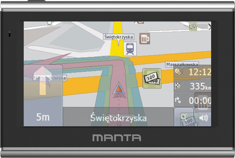 "Nawigacja GPS Manta GPS570 5"" Easy Rider + mapa europy 1"