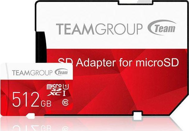 Karta Team Group Color MicroSDXC 512 GB Class 10 UHS-I/U1  (TCUSDX512GUHS54) 1