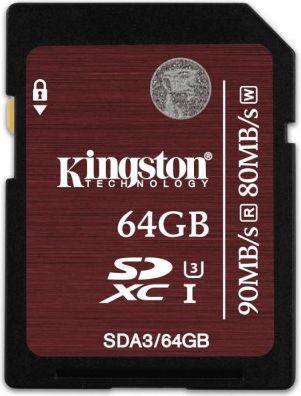 Kingston Sdxc 64gb Class 10 Uhs I Sda3 64gb W Morele Net