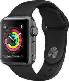 Smartwatch Apple Watch Series 3 GPS 38mm Grey Alu Czarny  (MTF02ZD/A) 1