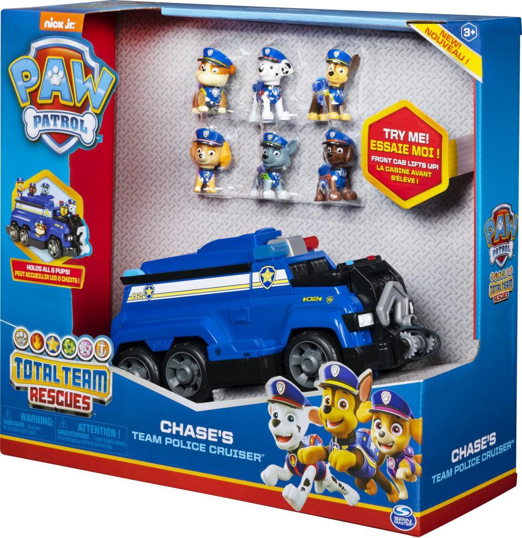 Spin Master Psi Patrol Zestaw Chase'a + 6 figurek (6052956) 1