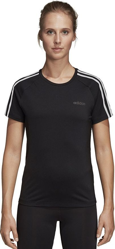 Adidas Koszulka damska D2M 3S Tee czarna r. S (DU2073) 1