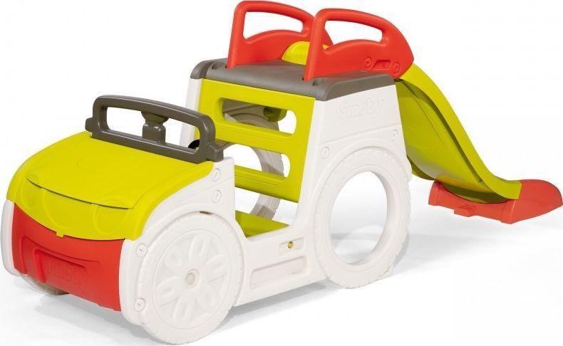 Smoby Samochód Przygód ze zjeżdżalnią i piaskownicą (840205) 1