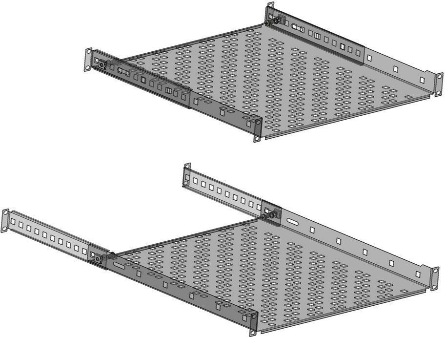 NetRack półka 19'' 1 U/300 mm, wsporniki, grafit (119-100-300-022) 1