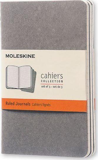Moleskine Zestaw 3 zeszytów Cahier Journals 9x14 linia 1