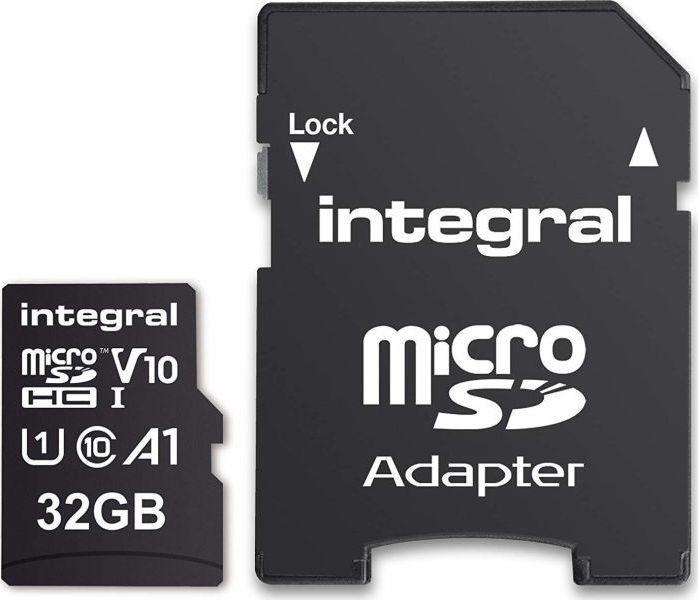 Karta Integral Ultima Pro Premium MicroSDHC 32 GB Class 10 UHS-I/U1 V10 (INMSDH32G-100V10) 1