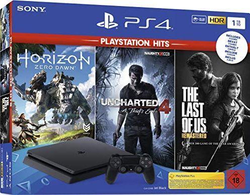 Sony Playstation 4 Slim 1TB + Horizon Zero Dawn + Uncharted 4 Kres Złodzieja + The Last of Us Remastered 1