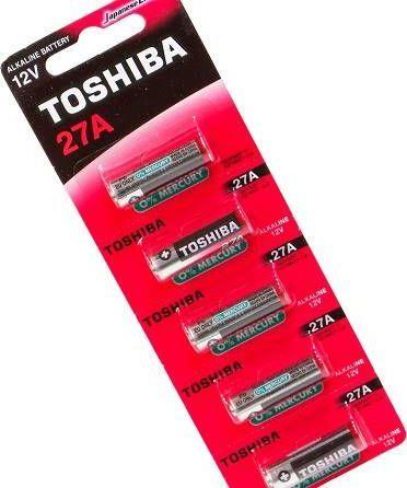 Toshiba Bateria A27 5szt. 1