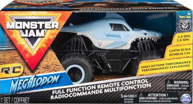 Spin Master Monster Jam 1:24 na radio Megalodon 1