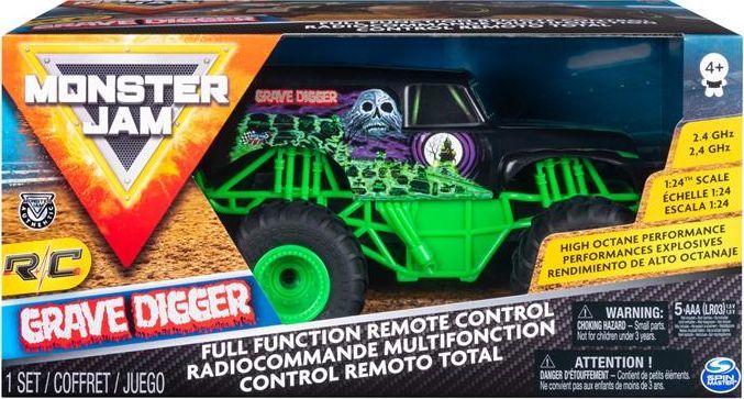Spin Master Monster Jam 1:24 na radio Gravedigger 1