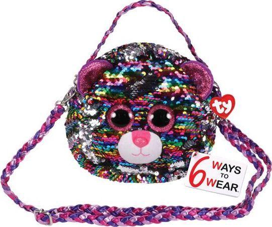 TY TY Fashion Sequins DOTTY - cekinowa torba na ramię leopard 95124 1