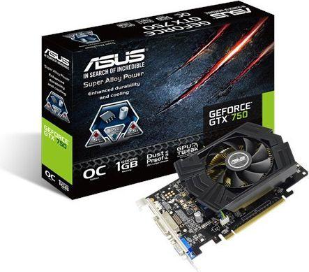 Karta graficzna Asus GeForce GTX 750 OC, 1GB GDDR5 (128 Bit), HDMI, DVI (GTX750-PHOC-1GD5) 1