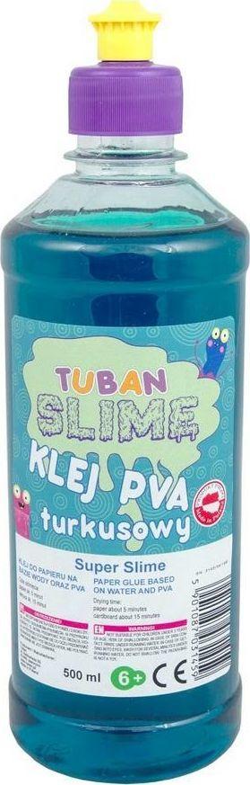 TUBAN Klej do papieru PVA 500 ml turkusowy 1