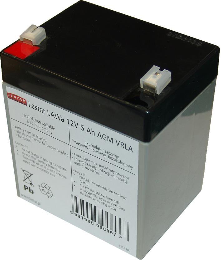 Lestar żelowy akumulator wymienny (LAWa 12V 5Ah AGM VRLA) (1966006967) 1