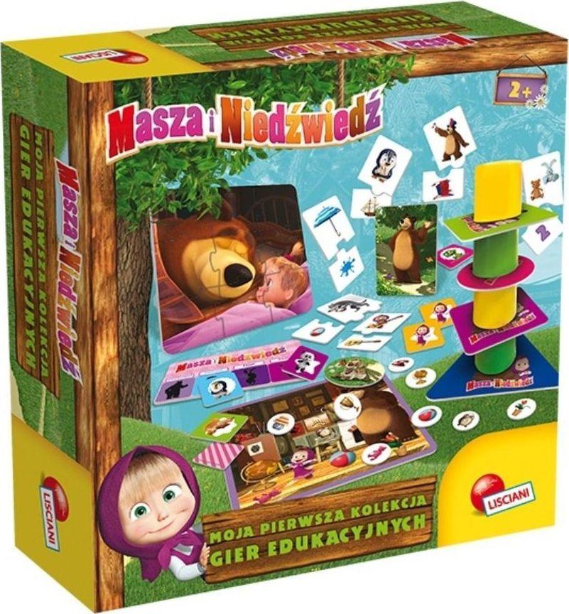Lisciani Masza i Niedźwiedź Zestaw gier edukacyjnych 78011 LISCIANI 1