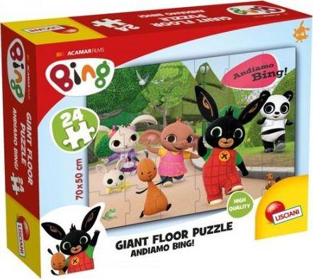 Lisciani Bing Ogromne puzzle podłogowe 24 elementów Lets go! 1