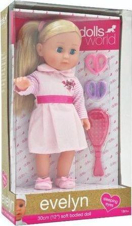 Dolls World Lalka Evelyn 30cm jasne włosy 1