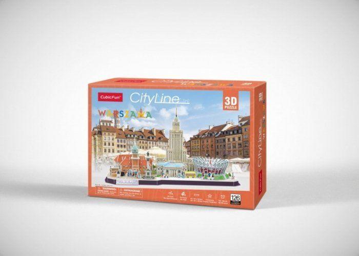 CHARGERCUBE  PUZZLE 3 D CITYLINE WARSZAWA 1