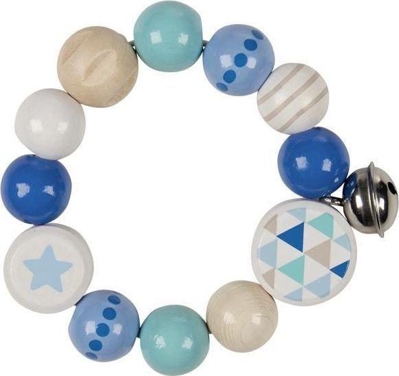 Heimess Grzechotka pierścień elastyczny niebieska gwiazdka 1