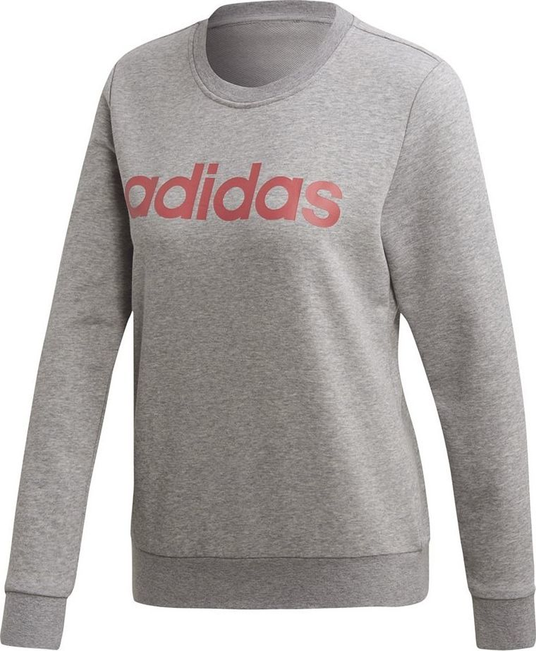Adidas Bluza damska adidas W Essentials Linear Sweat szara FH6608 2XS 1